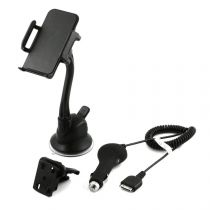 MUVIT - Support voiture hybride ventouse + CAC  pour iPhone 4/4S