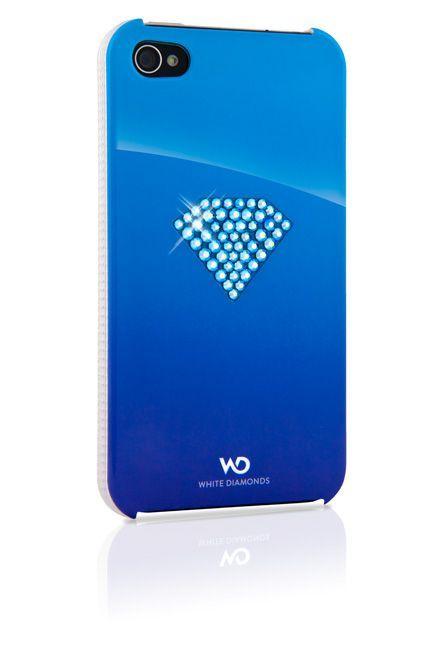 SWAROVSKI - Coque Bleue White Diam\'s pour iphone 4/4s