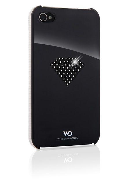 SWAROVSKI - Coque noire White Diam\'s pour iphone 4/4s