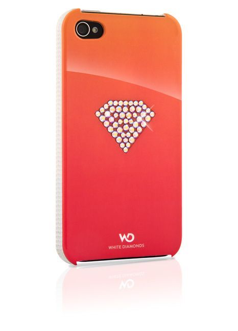 SWAROVSKI - Coque Rouge White Diam\'s pour iphone 4/4s