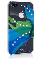 SWAROVSKI - Coque White Diam\'s liquids vert crsytal pour iphone 4/4s