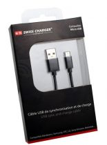 Swiss Charger - Câble de charge et Synchro Micro USB