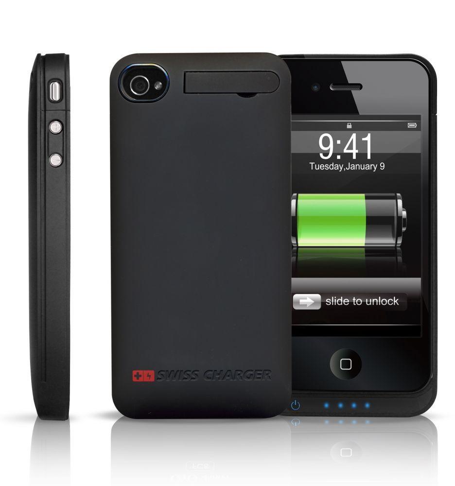 swiss chargeur sch20002 coque rigide avec batterie int gr pour iphone 4 batterie pour iphone 4. Black Bedroom Furniture Sets. Home Design Ideas