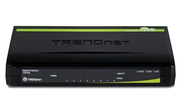 TrendNet TEG-S8G Switch 8 Ports 10/100/1000 Mbps