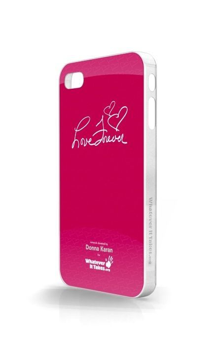 Whatever it takes coque Donna Karan rose Apple iPhone 4 /4s