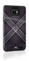 WHITE DIAMOND Coque Grid Noir pour Samsung Galaxy SII